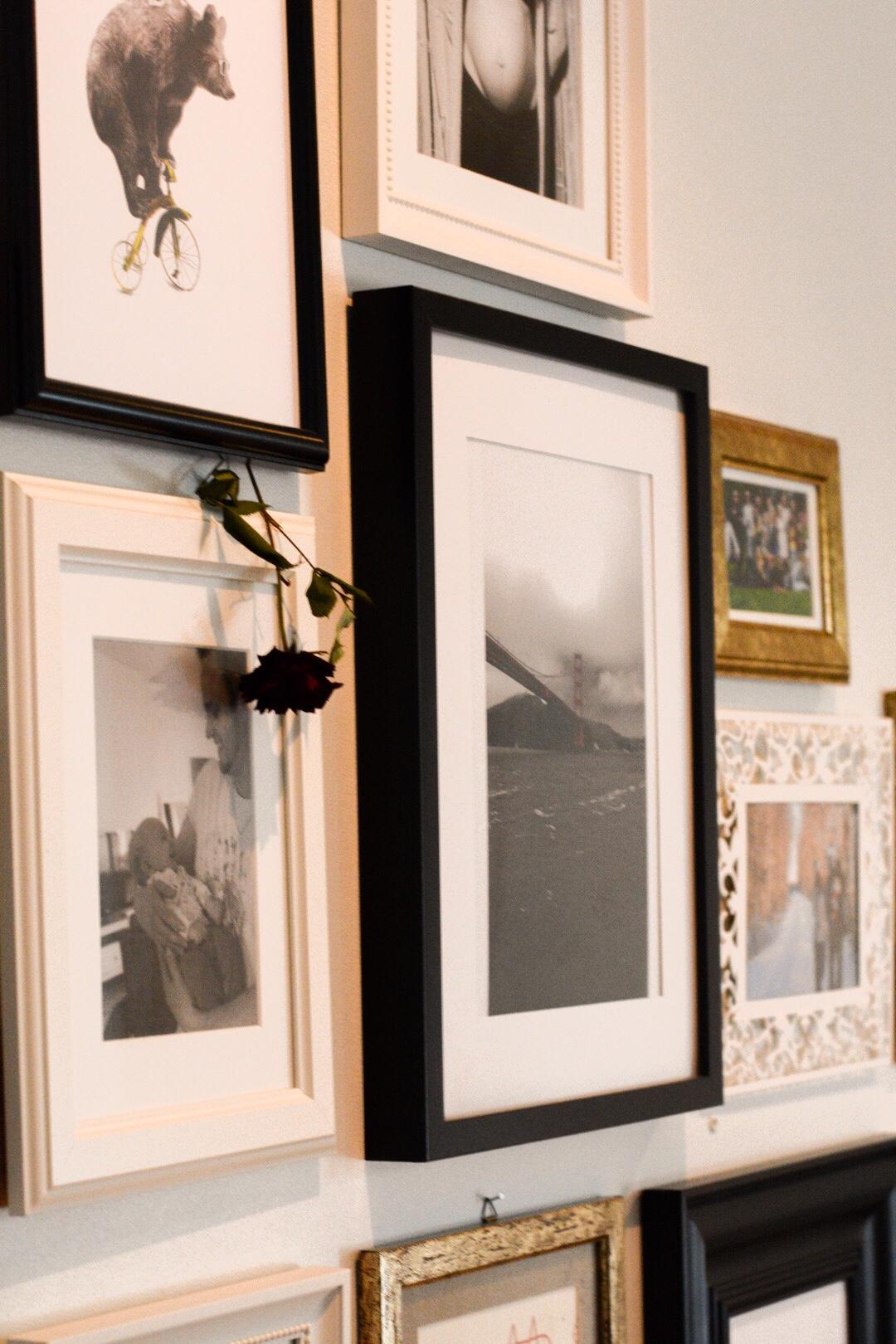Gallery wall, galleri vägg, fotoramar